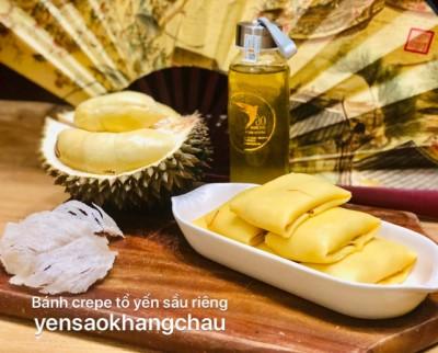 Bánh crepe tổ yến sầu riêng